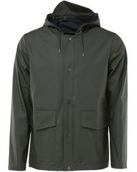 Rains Blazer Short Hooded Coat - Groen