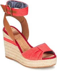 Napapijri - Belle Women's Sandals In Red - Lyst