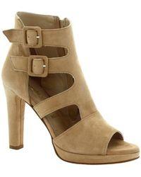 Leonardo Shoes Sandalen 218 CAMOSCIO CAMEL - Natur