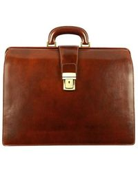 Time Resistance The Firm Men's Briefcase In Brown