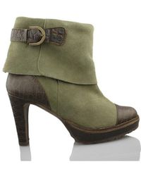 Vienty - Booty Elegant Heel Women's Low Ankle Boots In Green - Lyst
