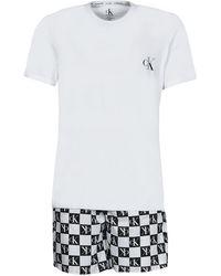 Calvin Klein Pyjama's / Nachthemden Ss Short Set - Meerkleurig