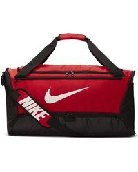 Nike Bolsa de deporte Brasilia Medium Duff 90 - Rojo