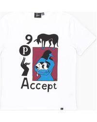 by Parra Accept T-Shirt - White T-shirt - Blanc