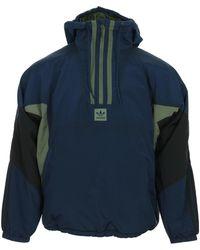 adidas Anorak Puffy Half Zip Coupes vent - Bleu