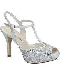 Leonardo Shoes Sandalen S2710 Satin Bianco T 2693p F Lucy - Wit