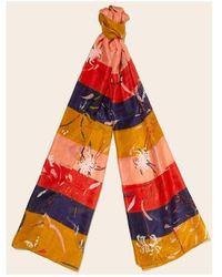 La Fiancee Du Mekong Echarpe Foulard soie femme - Orange