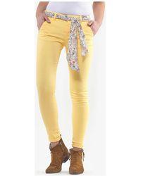 Le Temps Des Cerises Pantalon lidy slim jaune Pantalon