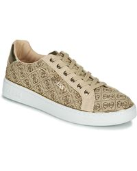 Guess Lage Sneakers Beckie2 - Naturel