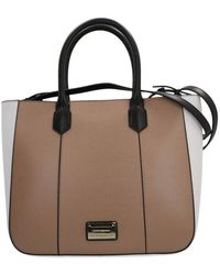 090777eb81 Armani Shopping Bag In Canvas And Leather in Gray - Lyst
