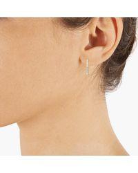 Cleor Boucles oreilles Créoles en Or 375/1000 Rose et Oxyde