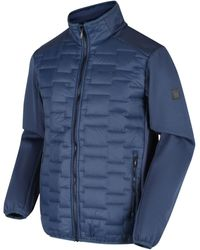 Regatta Clumber Hybrid Insulated Quilted Walking Jacket Blue Jacket