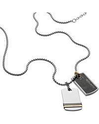 DIESEL Collar DX1189 - Gris