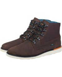 Vans - Breton Boot Brown Men's Skate Shoes (trainers) In White - Lyst