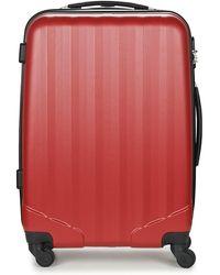 David Jones Chauvetta 69l Hard Suitcase - Red