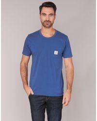 Franklin & Marshall T-shirt Korte Mouw Tans Mora - Blauw