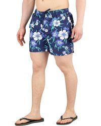 ff9c825ad6 GANT - Men's Floral Swim Shorts, Blue Men's In Blue - Lyst