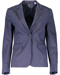 GANT 1801.4775018 femmes Veste en bleu