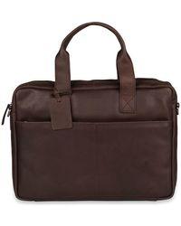 Burkely Laptoptas Jesse Vintage Shoulderbag Dark 13 Inch - Bruin