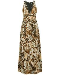 Marciano Lange Jurk Sandscape Maxi Dress - Naturel