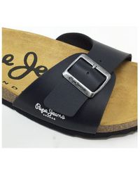 Pepe Jeans CLAQUETTE BIO BASIC NOIR Claquettes