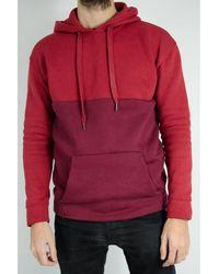 SELECTED Sweat à capuche bicolore H Bordeaux hommes Sweat-shirt en rouge