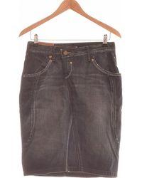 Lee Jeans Jupe Mi Longue 34 - T0 - Xs Jupes - Bleu
