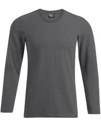 Promodoro T-shirt T-shirt slim manches longues Hommes - Gris
