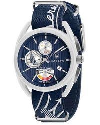 Maserati Reloj analógico - trimarano_r8851 - Azul