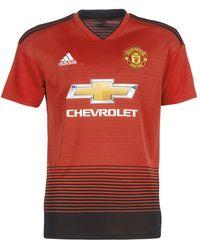 adidas T-shirt Korte Mouw Mufc Jersey - Rood