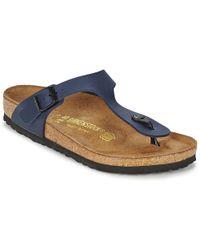 Birkenstock GIZEH femmes Sandales en bleu