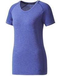 adidas Primeknit Wool T-shirt - Bleu