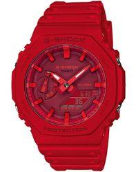 G-Shock Reloj digital GA-2100-4AER - Rojo