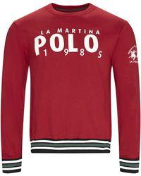 La Martina Sweater Omf312 Fp175 - Rood