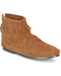 Minnetonka BACK ZIP BOOT femmes Boots en Marron