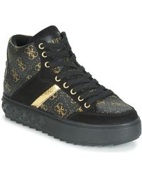 Guess Hoge Sneakers Fixin - Zwart