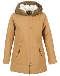 Roxy - Mountain Song Women's Parka In Brown - Lyst