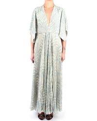 Erika Cavallini Semi Couture S0/P0SU22 Dress Femme bleu Robe