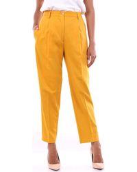 Michael Coal Pantalons de costume NICOLE3575 - Jaune