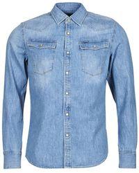 G-Star RAW Camicia A Maniche Lunghe 3301 Slim Shirt Ls - Blu
