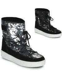 Moon Boot Bottines à empiecement brodé de sequins - Noir
