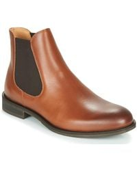 SELECTED Laarzen Louis Leather Chelsea - Bruin