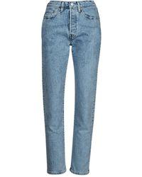 Levi's 501 CROP Jeans boyfriend - Bleu