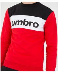 Umbro Sweat-shirt Pull A Col Rond Authentic Big Logo - Noir