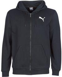 PUMA - ESSENTIAL HOODY ZIP hommes Sweat-shirt en Noir - Lyst