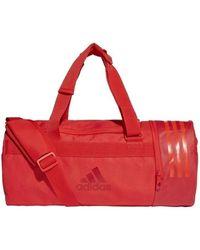adidas Convertible 3stripes Duffel Sports Bag - Red
