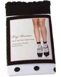 Leg Avenue Chaussettes Mi-Hautes - Nylon - Spots and dots anklets femmes Chaussettes en blanc
