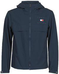 Tommy Hilfiger Windjack Hooded Jacket - Blauw