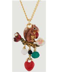 Les Nereides Secret Forest Necklace 47620 Gold Women's Necklace In Gold - Metallic