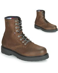 Tommy Hilfiger NUBUCK WARMLINED LACE UP BOOT - Marrón